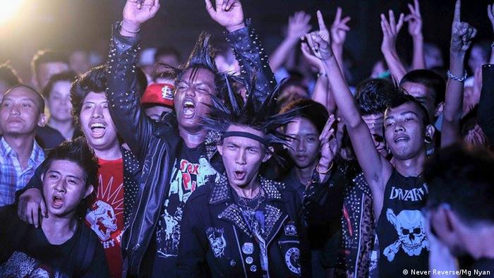Punk music performance in Myanmar