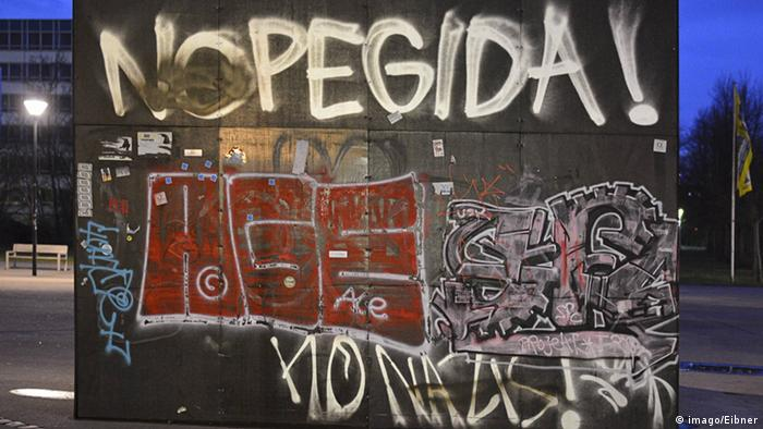 No Pegida Graffiti in Dresden, Copyright: imago/Eibner