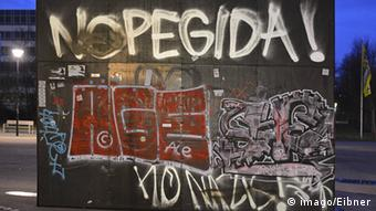 'No PEGIDA' graffiti in Dresden