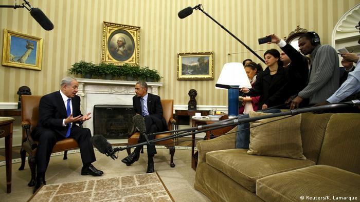Біньямін Нетаньяху та Барак Обама під час зустрічі у Вашингтоні