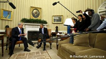 Obama meets Netanyahu in the Oval office of the White House in Washington