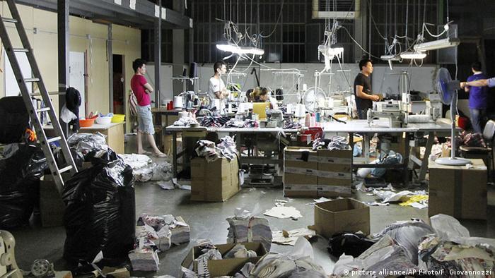 Textilfabrik in Prato (AP Photo/Fabrizio Giovannozzi)