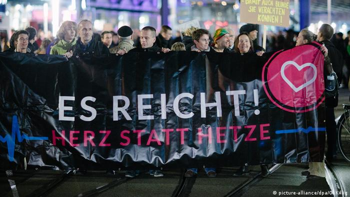 Demonstration gegen Pegida in Dresden (foto: dpa)