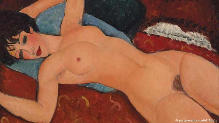 modigliani amadeo reclining nude nu couche christie's new york auktion (picture-alliance/AP Photo)