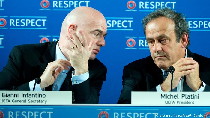 FIFA Uefa Platini und Infantino