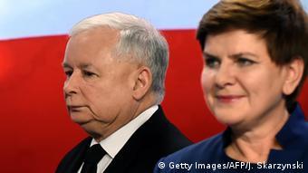 Polen Jaroslaw Kaczynski und Beata Szydlo (Foto: Getty Images/AFP/J. Skarzynski )