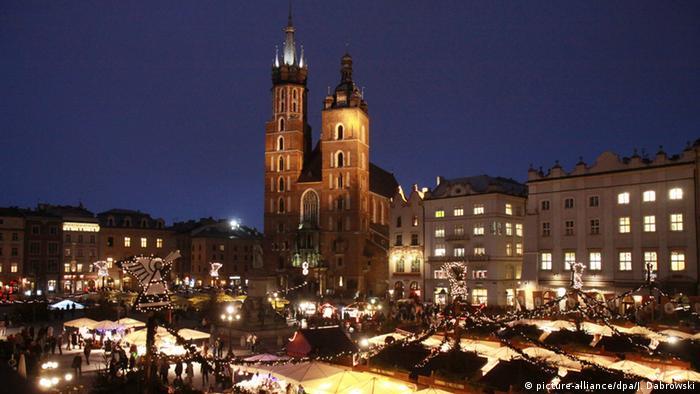 Weihnachten Weihnachtsmarkt Polen Krakau