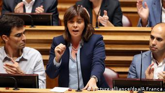 Catarina Martins Portugal Lissabon Parlament