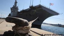 Toulon frankreich hafen kriegsschiff Charles de Gaulle
