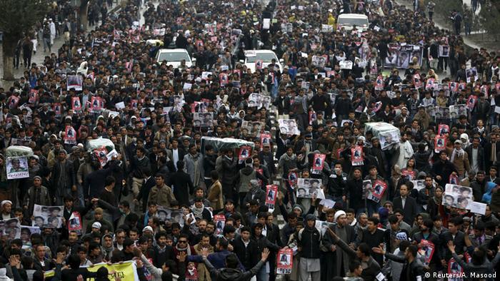 Afghanistan Protest Trauer wegen Enthauptung von sieben Schiiten