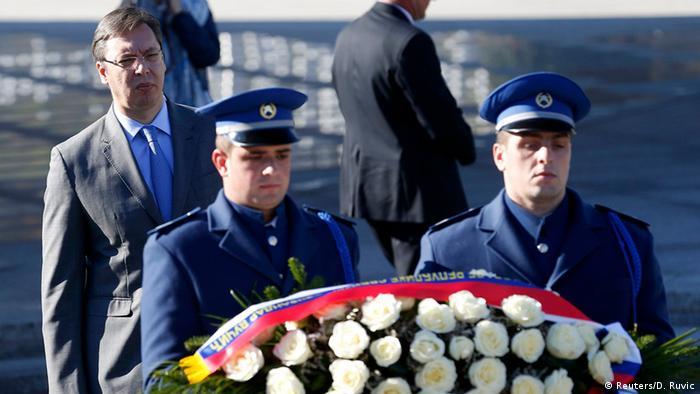 Serbien Bosnien-Herzegowina Vucic Kranzniederlegung Gedenkstätte Srebrenica
