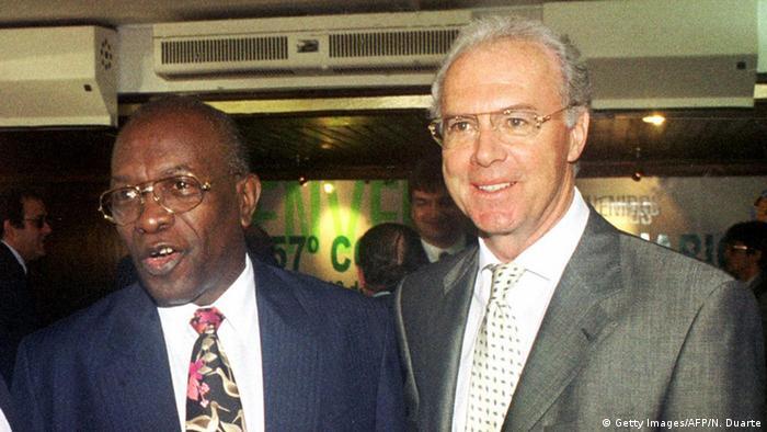 Jack Warner und Franz Beckenbauer