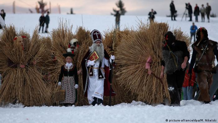 Nikolaus und sein Gefolge im Berchtesgadener Land