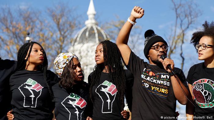 USA Studenten Proteste an der Universität in Missouri