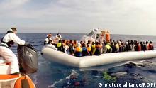 Italy, Sicily - November 6, 2015 949 migrants rescued by Italy's Coastguard November 6, 2015; Copyright: picture alliance/ROPI