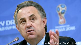 Der russische Sportminister Witali Mutko spricht während einer Pressekonferenz (Foto: picture-alliance/dpa/M. Brandt)