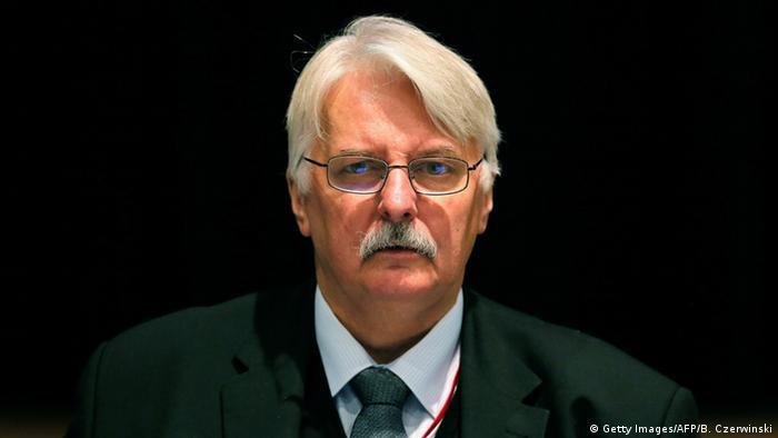 Polen Außenminister Witold Waszczykowski