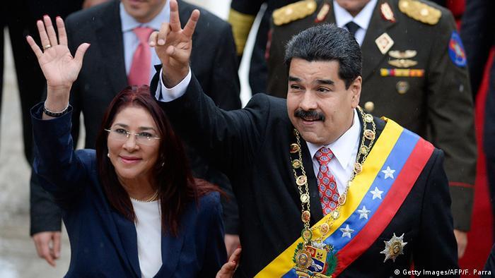 Nicolas Maduro Cilia Flores Venezuela (Getty Images/AFP/F. Parra)