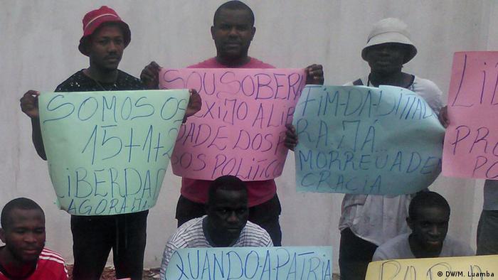 Angola Demonstration (DW/M. Luamba)