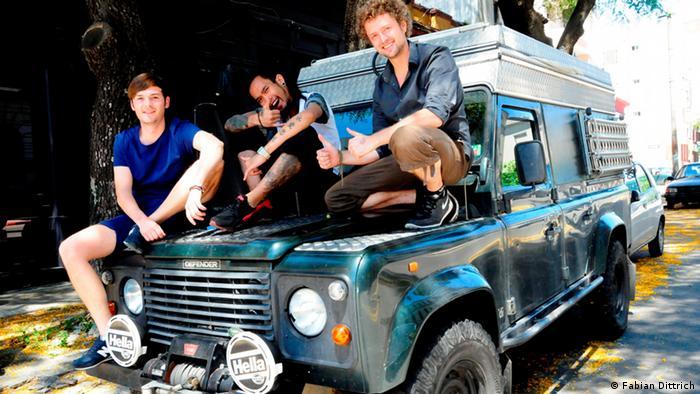 El equipo de Start Up Diaries: Dominic Brasovneau, Vin Tran y Fabian Dittrich.
