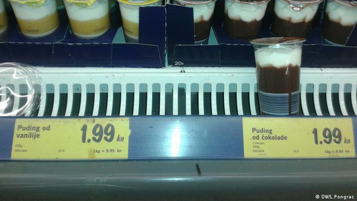 Pudding HR Preis bei Lidl in Kroatien