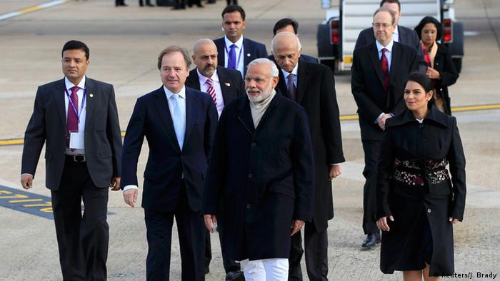 Großbritannien Indien Narendra Modi Ankunft in London