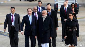 Modi arrives in London