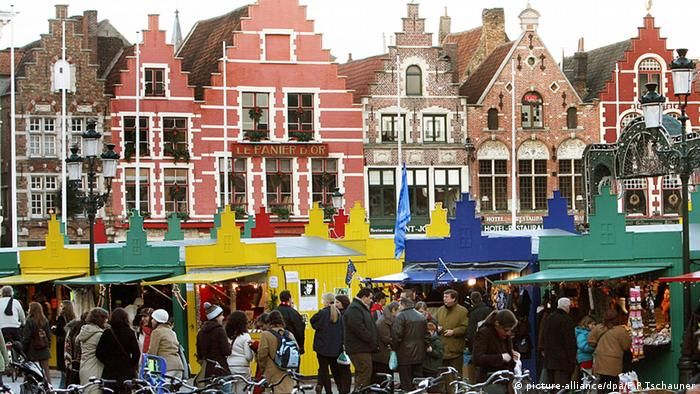 Рождественский рынок в Брюгге