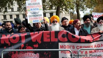 Narendra Modi protests in London