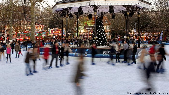Marktplatz Weihnachtsmarkt Hyde Park London Großbritannien