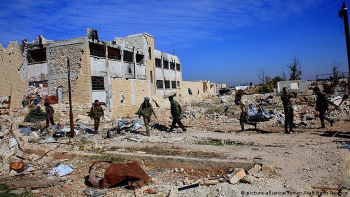 Сирия: разрушенное здание военного аэропорта