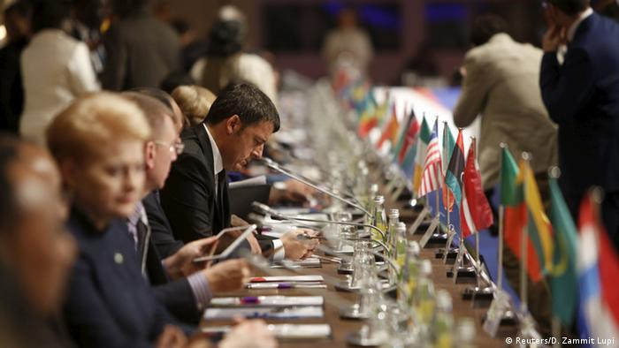 Participants at an EU-Africa summit in Malta in 2015 Copyright: Reuters/D. Zammit Lupi