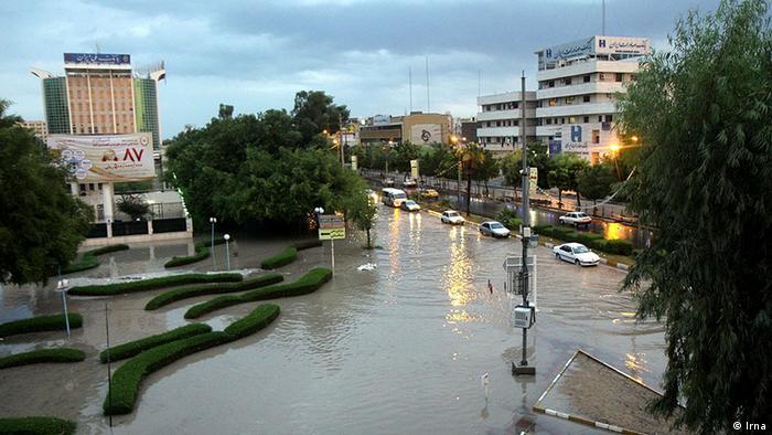 آبگرفتگی خیابانی در شیراز