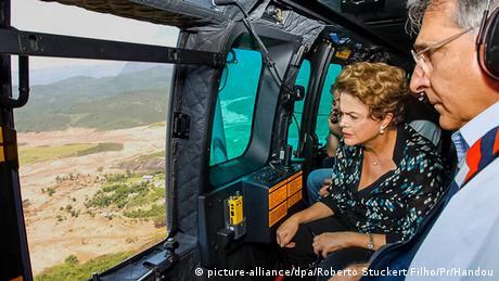 Dilma Rousseff in Mariana