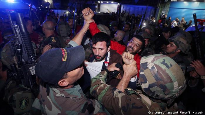 Lebanese security forces arrested a suspect near the scene of the bombings