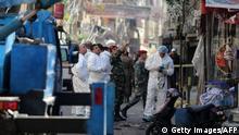 Libanon Spurensicherung nach dem Anschlag in Beirut
