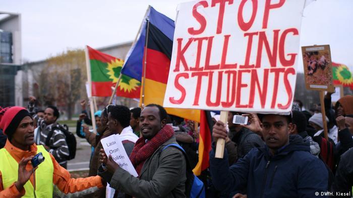 Berlin Demonstration von Oromo-Aktivisten