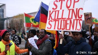 Berlin Demonstration von Oromo-Aktivisten