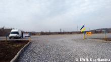 Ukraine Konflikt Frontlinie im Gebiet-Donezk
