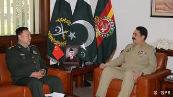Fan Changlong, vice chairman of China's Central Military Commission visited Pakistan and met Pakistan's military chief General Raheel Sharif