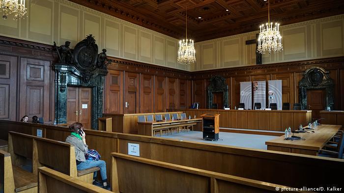 Saal 600 des Justizpalasts Nürnberg