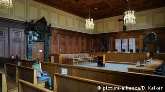 Φωτογραφία από την αίθουσα του Δικαστηρίου στη Νυρεμβέργη