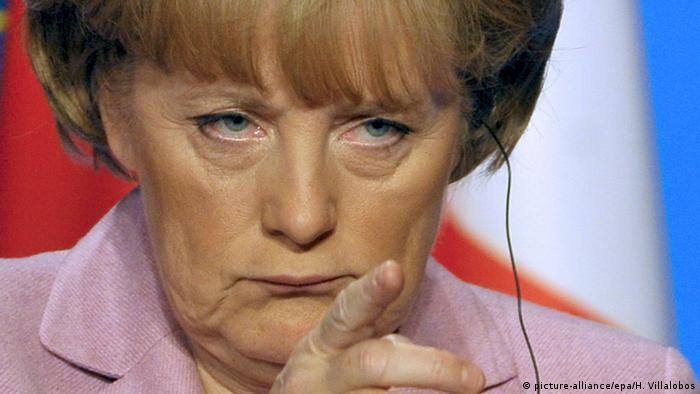 Ангела Меркель на саммите ЕС в Париже в 2008 году