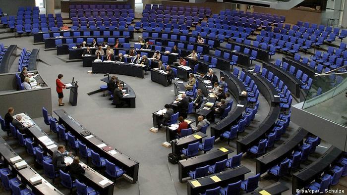 Rasprava u gotovo praznoj plenarnoj sali Bundestaga