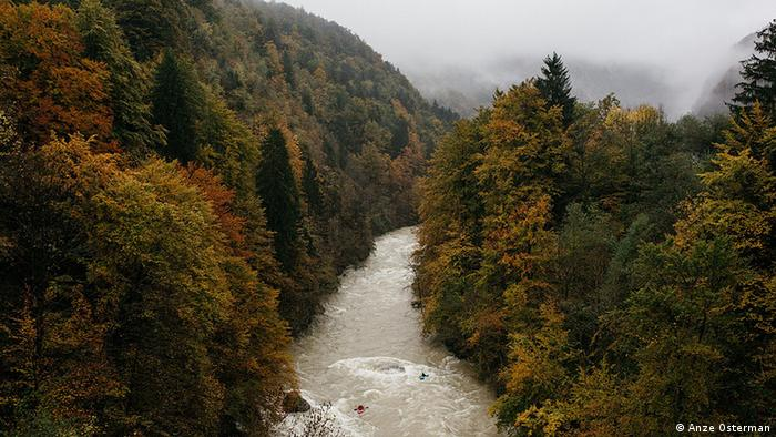 Kayakers on the Sava River headwaters (Photo: Anze Osterman)