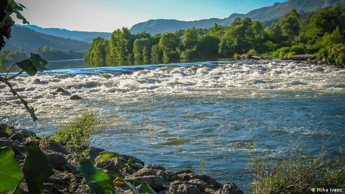 Slowenien Brezice Sava Fluss