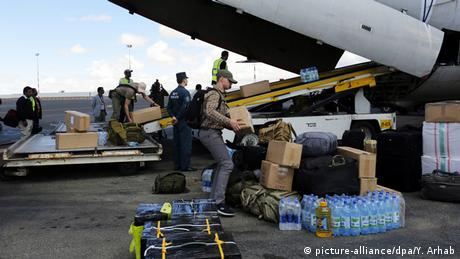 Jemen Ankunft Lebensmittel aus Russland