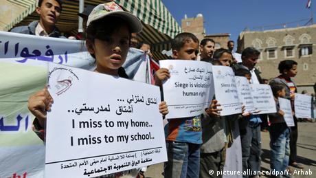 Jemen Protest gegen saudi-arabische Militäroperationen
