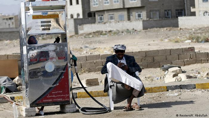 Jemen Schwarzmarkt für Öl in Sanaa