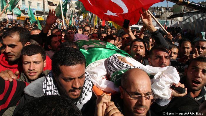 Westjordanland Beisetzung Abdullah Azzam Shalaldeh in Sair östlich von Hebron